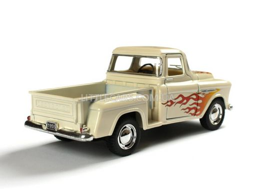 Kinsmart Chevrolet Chevy Stepside Pick-UP 1955 білий з наклейкою