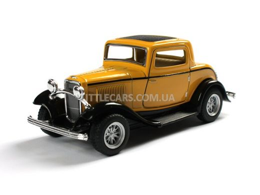 Kinsmart Ford 3-Window Coupe 1932 желтый