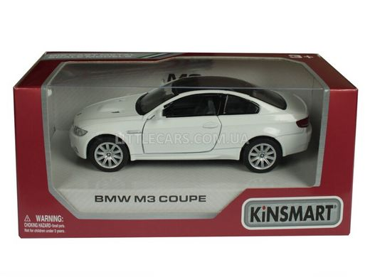 Kinsmart BMW M3 Coupe белый
